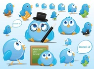 Twitter cartoons vector free