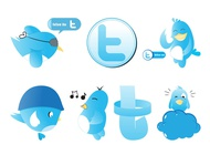 Twitter graphics set vector free