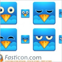 Link toTwitter square icons icons pack