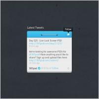 Link toTwitter widget design