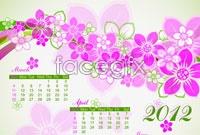 Link toTwo 2012 calendar pattern vector