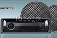 Link toTwo car audio speaker vector