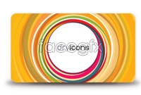 Link toTwo circular aperture card background vector map
