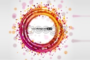 Two circular light background vector