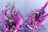 Link toTwo current musical elements vector