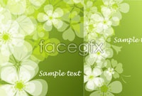 Link toTwo fresh summer flowers ghosted background vector