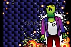 Link toTwo halloween cartoon vector