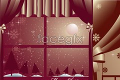 Link toTwo purple style christmas illustrator eps vector