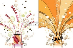 Link toTwo sales promotional drawings vector