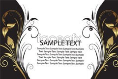 Link toTwo symmetrical style pattern eps vector