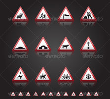 Link toUk road signs: warnings 3