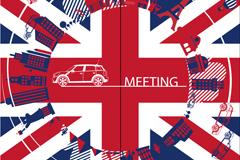 Uk wind-meter flag vector illustration