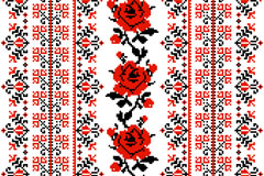 Link toUkraine embroidery style rose background vector