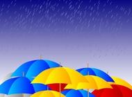 Link toUmbrellas in the rain vector free