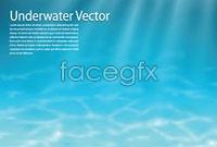 Link toUnderwater light rays background vector