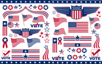 Link toUnited states flag art