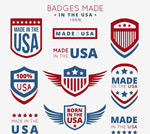 Link toUnited states manufacturing labels vector