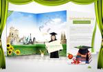 Link toUniversity graduation concept poster psd