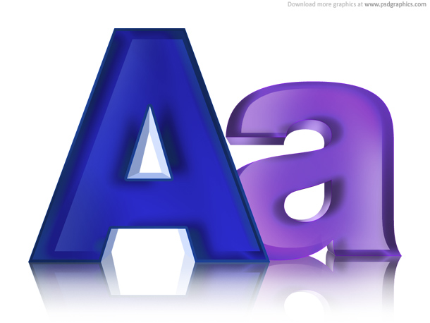 Link toUppercase and lowercase letters, psd icon