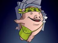 Link toUrban pig cartoon vector free