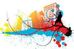 Link toUrban street music wave vector