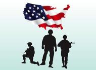 Link toUs soldiers vectors free