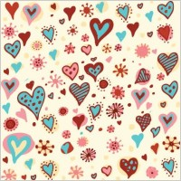 Link toValentine's day hearts pattern vector graphic