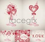 Valentine backgrounds vector