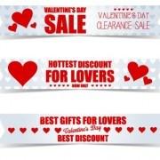 Link toValentine day big sale vector banners set 03