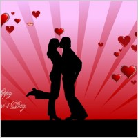 Link toValentine day couples kissing vector