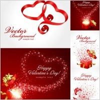 Link toValentine day gift ribbon and clip art
