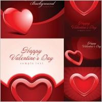 Link toValentine day heartshaped texture vector background