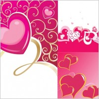 Link toValentine day heartshaped vector background