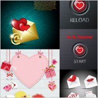 Link toValentine day romantic elements vector
