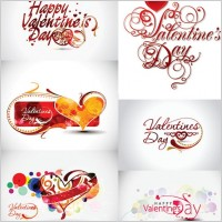 Link toValentine day word theme vector