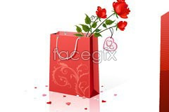 Link tovector element roses and gifts Valentine