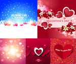 Link toValentine heart-shaped flowers vector