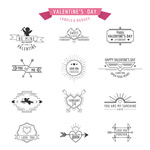 Link toValentine icons vector