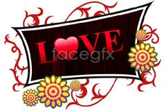 Link toValentine love tag vector