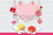 Link toValentine pink cartoon element vector