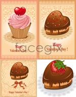 Link toValentine's cakes vector
