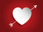 Link toValentine's day an arrow through the heart vector