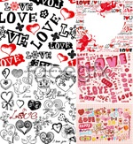 Link toValentine's day background vector