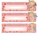 Link toValentine's day banner design vector