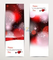 Link toValentine's day banner template vector