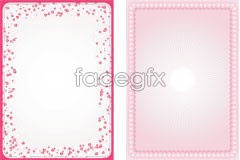 Link tovector eps lace heart-shaped card, day Valentine's