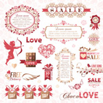 Link toValentine's day discount stuff vector