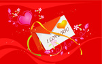 Valentine's day envelopes postcards vector