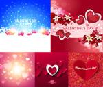 Valentine's day flower heart vector