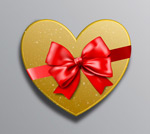 Link toValentine's day gift box packaging vector